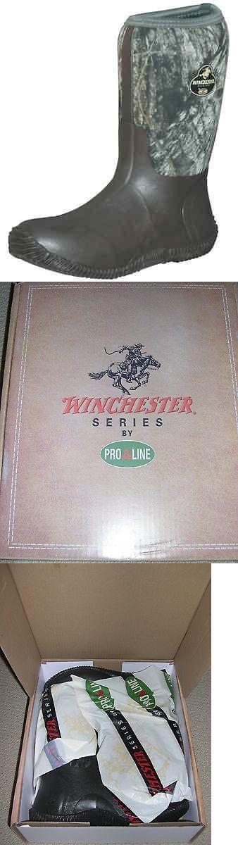 Hunting Footwear 153008: Winchester Mudtrax Lite Hunting Camo Rubber Neoprene Boot Men S Size 12 Break Up -> BUY IT NOW ONLY: $35 on eBay!