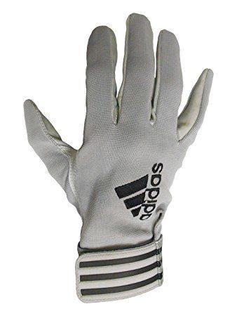 adidas Custom Tackified All Purpose Adult Football Gloves (Gray, 2X-Large)