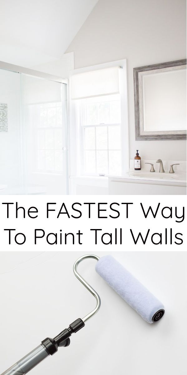 How to paint tall walls from vaulted ceilings fast