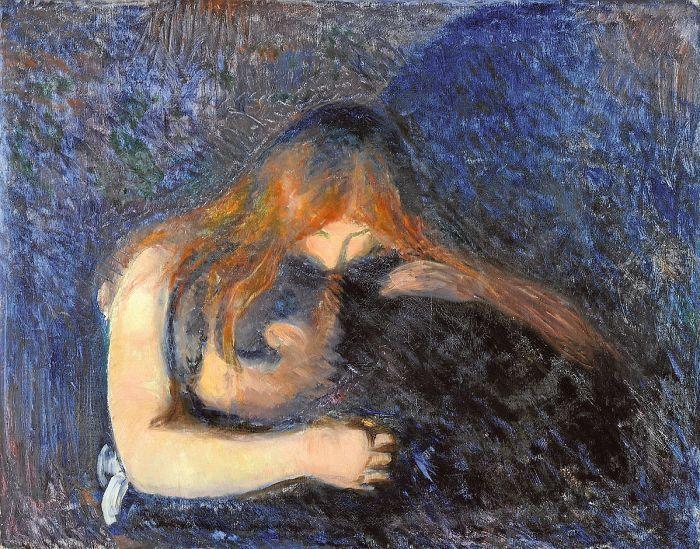 Edvard Munch, Vampyyri 1895, symbolismi, Norja