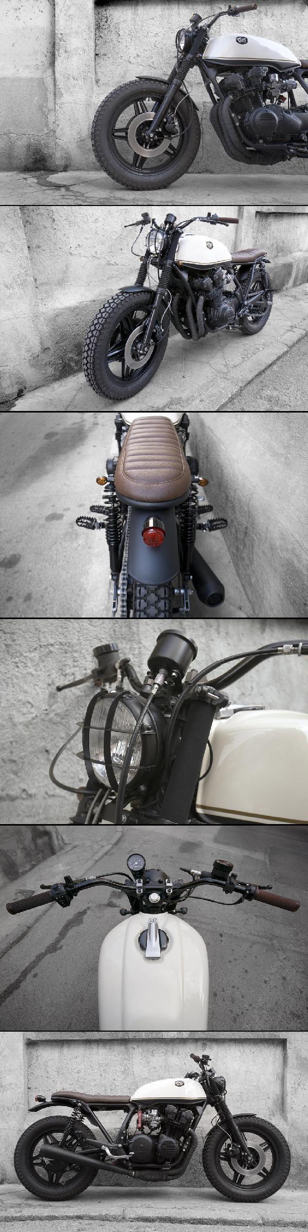 CRD | Honda CB 750 KZ | CRD#11 - Black Cream >> http://www.caferacerdreams.com.es/motos/encargos-de-otros-clientes/honda-cb-750-kz-crd-11-black-cream