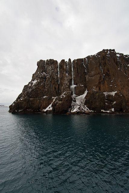 cliffs at whaler's bay