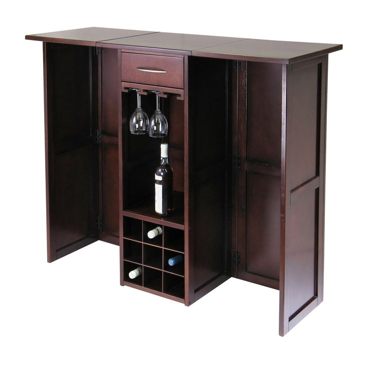 Winsome 94350 Newport Wine Bar Expandable Counter in Antique Walnut. 497 best HOME BAR images on Pinterest   Bar cabinets  Coast and