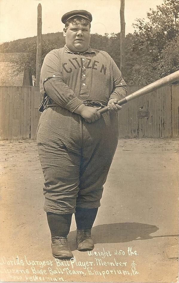 World's largest baseball player, 1908 | Cool Old Portraits ...