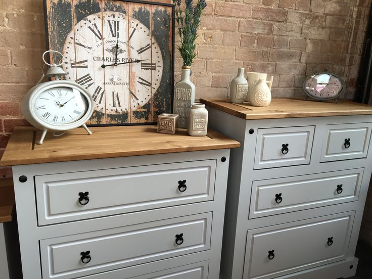 Just arrived! Corona grey bedroom furniture in grey, white and waxed!!! Open 9-5 Monday to Saturday. #corona #pine #bedroom #furniture