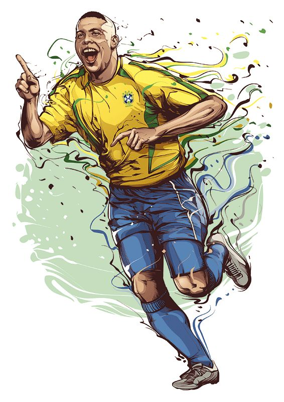 One of my all time favorite players..the REAL Ronaldo.  by Cris Vector, soccer, futbol, football, brazil, Brasil R9