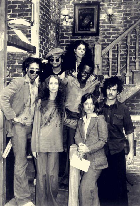 """Chevy Chase, John Belushi, Laraine Newman, Gilda Radner, Garrett Morris, Jane Curtin and Dan Aykroyd, """"Saturday Night Live!"""""""