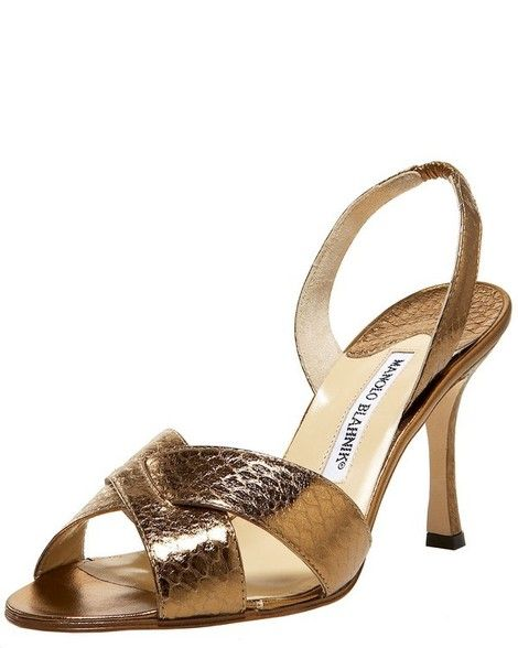 Manolo Blahnik Aw Slingback Sandal Anna Wintour Wears These In Two Nude Colors All The Time