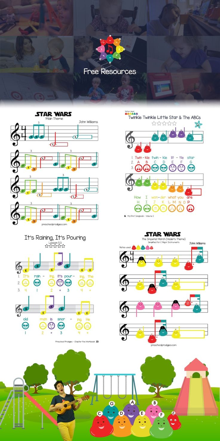 Check out the Preschool Prodigies blog for some of our best free music lessons and sheet music!