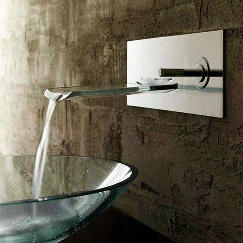 Perfect Single Handle Waterfall Ys4661 Wall Mount Bathroom Sink Faucet,chrome  Detroit Bathware   Wall Mounted Good Looking