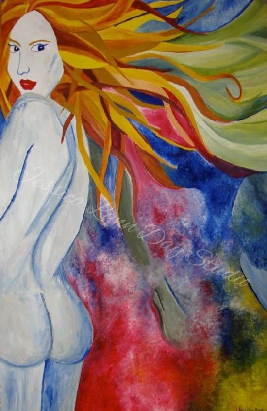 """""""Bare Wind"""" by Jessica Lynn Day Studio.  Oil Paint on Newsprint Paper."""