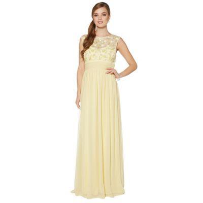 No. 1 Jenny Packham Designer light yellow floral embellished maxi dress- at Debenhams.com