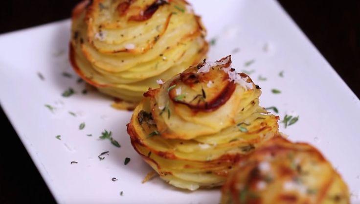 Så gör du läckra potatisrosor med parmesan!