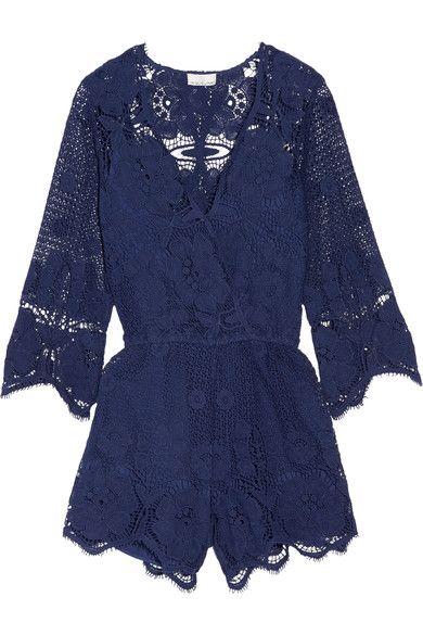 Miguelina | Greta crocheted cotton-lace playsuit | NET-A-PORTER.COM