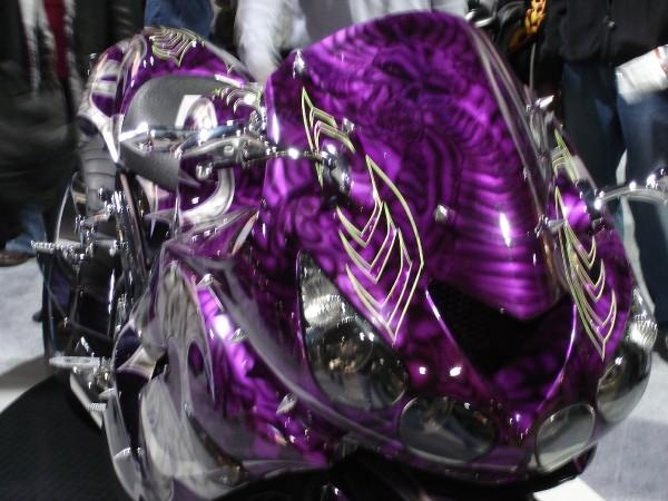 Purple street bike