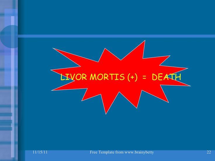 MORTIS LIVOR (+) = SỰ THẬT
