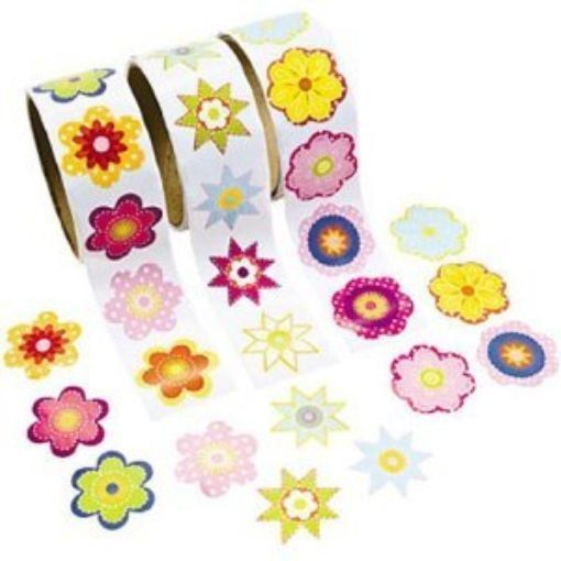 Really just a pic of stickers to remind me to look for sticker shapes at Dollar store, Target, Walmart etc. NEW Colorful Flower Sticker Rolls (3 rolls)