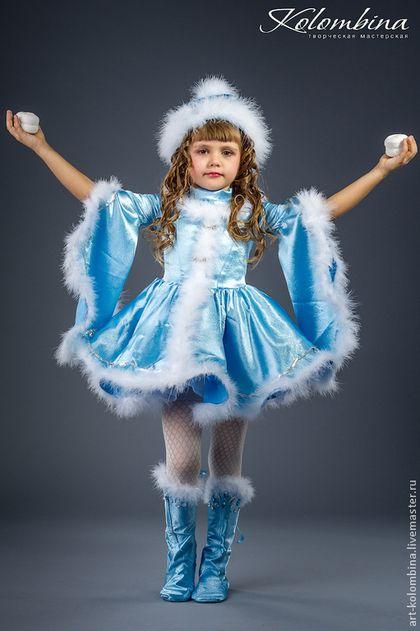 Купить Костюм Снегурочки - голубой, снегурочка, костюм снегурочки, карнавальный костюм, новогодний костюм