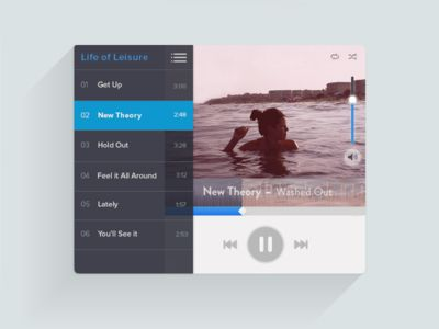 Dribbble - Music player UI by Andrea Montoya