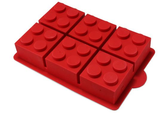 Instead of making your own lego blocks (not difficult) one could use this baking pan!
