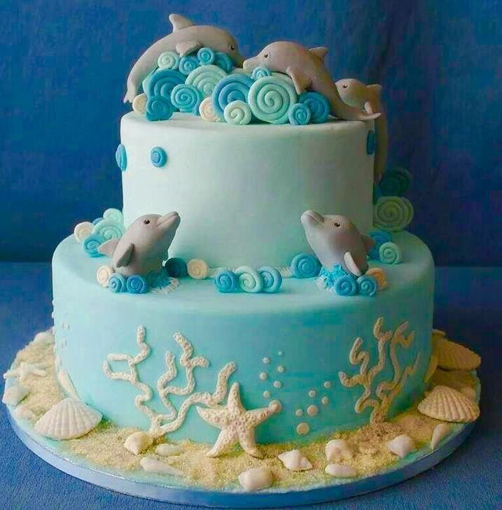 Dolphin cake!                                                                                                                                                                                 More