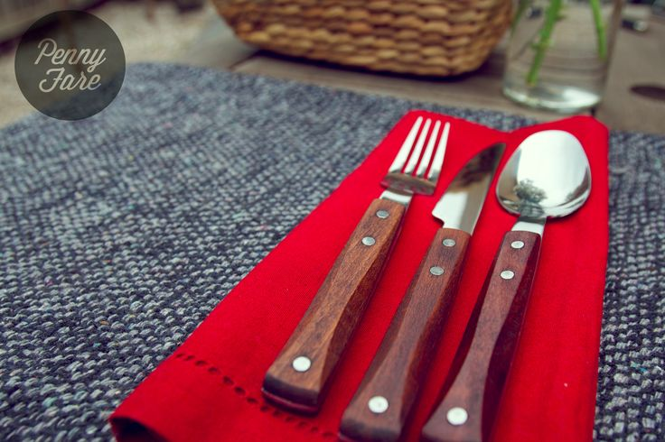 Wooden-handled cutlery