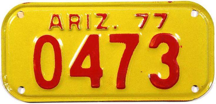 1977 Arizona Moped License Plate