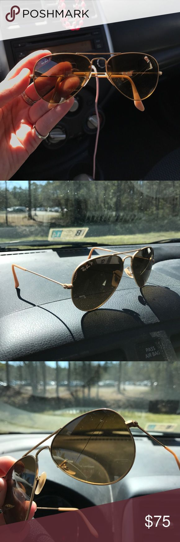 ray ban glass cracked  ray ban aviators