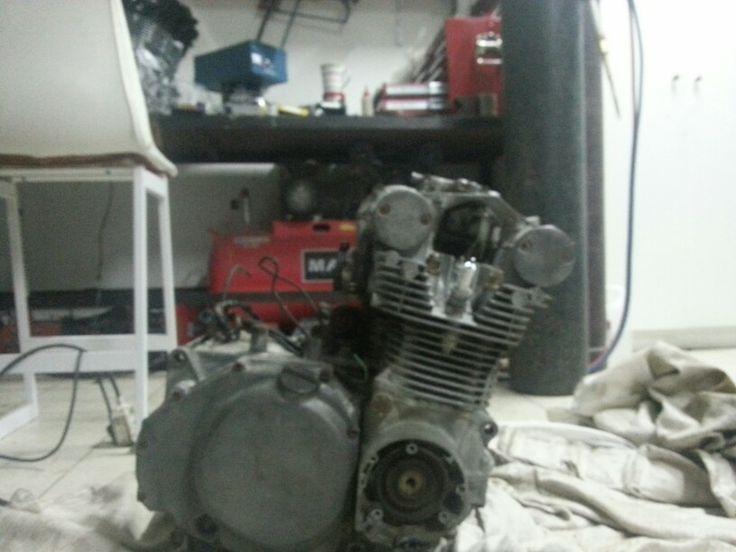 Engine before sandblasting