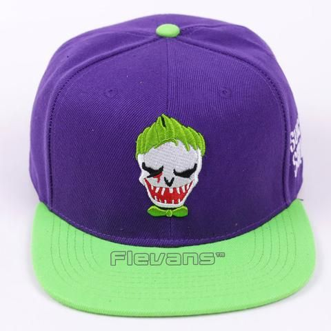 Suicide Squad The Joker Cool Green And Purple Snapback Hat Cap    #Suicide #Squad #The #Joker #Cool #Green #And #Purple #Snapback #Hat #Cap