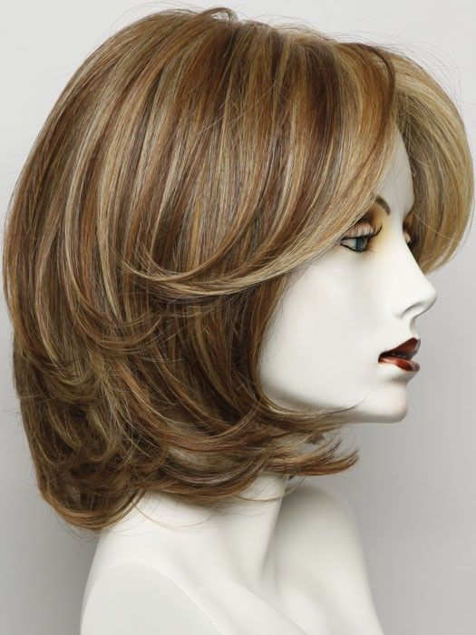 Upstage Large by Raquel Welch - 100% hand-tied Cap with Lace Front | Wigs.com - The Wig Experts™ golden russett RL29/25