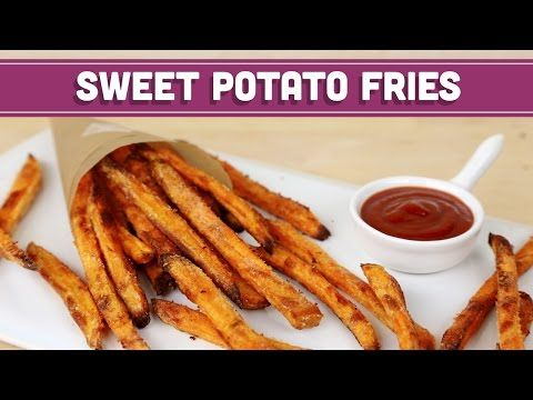 How To Make CRISPY Baked Sweet Potato Fries, Healthy Recipe! Mind Over Munch - YouTube