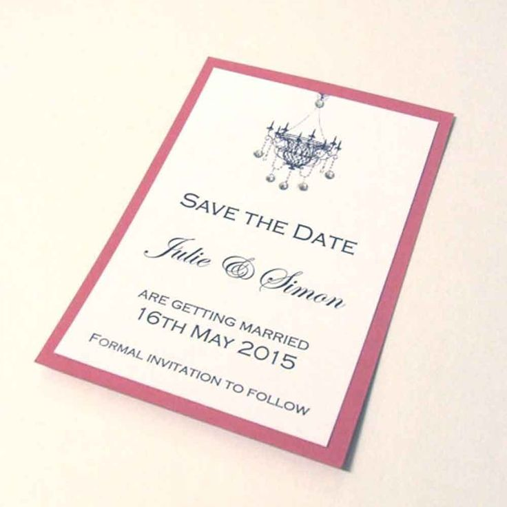 Chandelier Save the Date Card