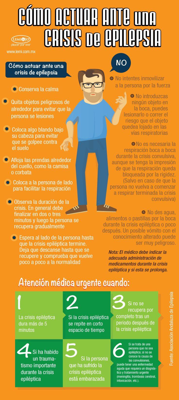 Infografía: Cómo actuar ante una crisis de #epilepsia.  #salud y #bienestar