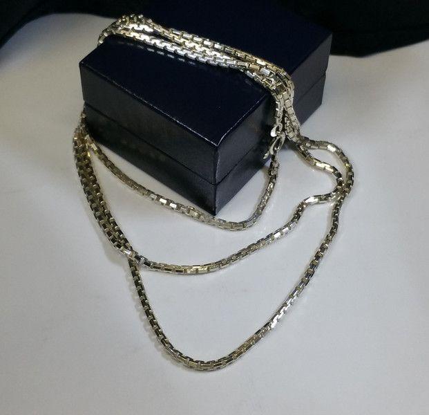 Vintage Halsschmuck - 90 cm/3 mm Venezianerkette Silber 925 schwer HK184 - ein Designerstück von Atelier-Regina bei DaWanda