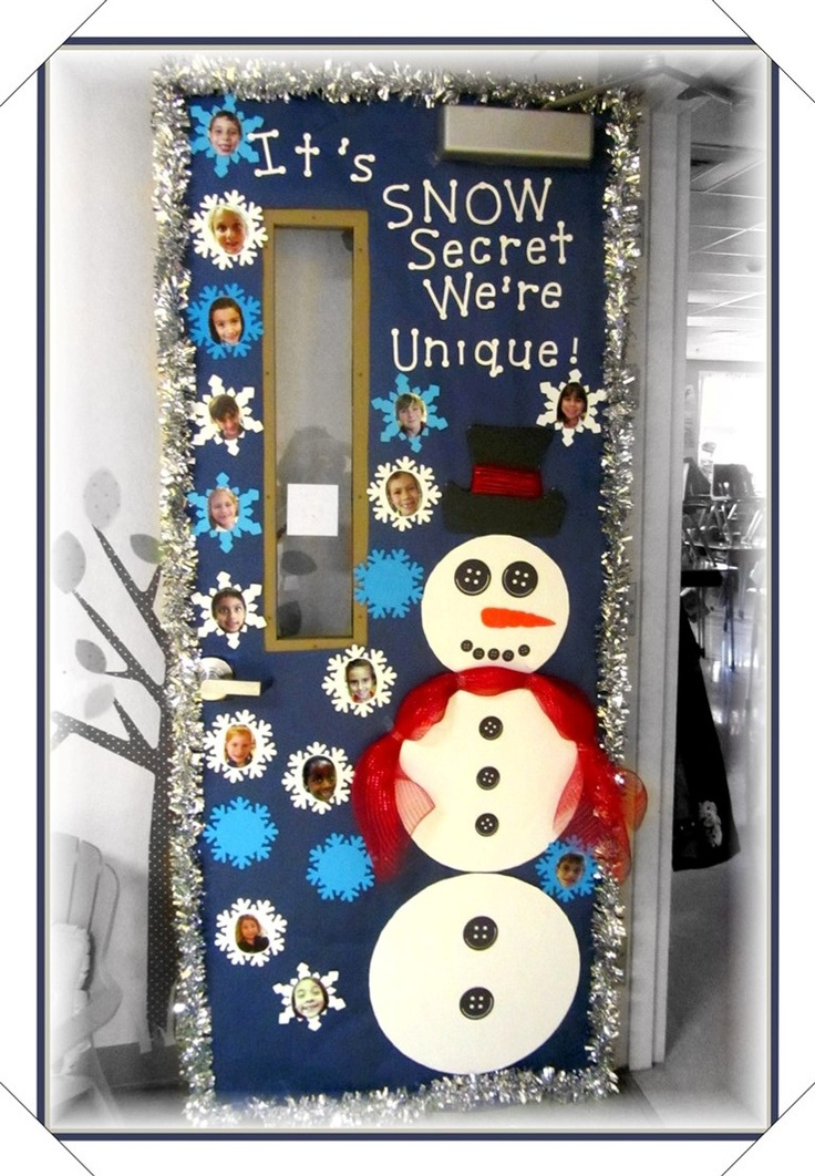 Classroom Door For The Winter Months December Or January