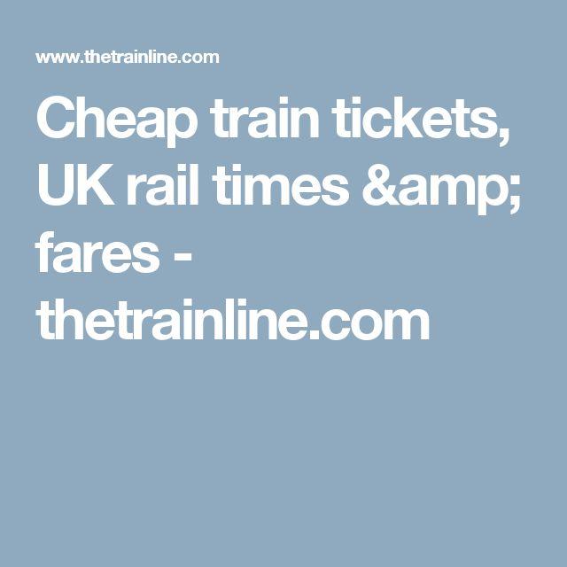 Cheap train tickets, UK rail times & fares - thetrainline.com