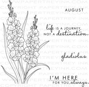 Year Of Flowers Gladiolus Stamp Set