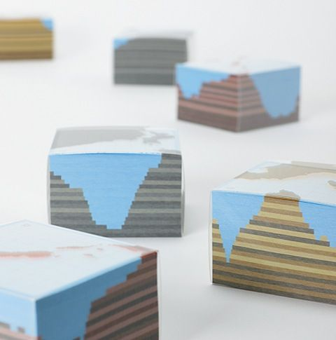 Topographic and geographic memo pads lostateminor.com