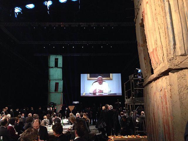 Il messaggio video di PapaFrancesco ad #Expoidee #Milano #HangarBicocca #expo2015 #cibo #alimentazione