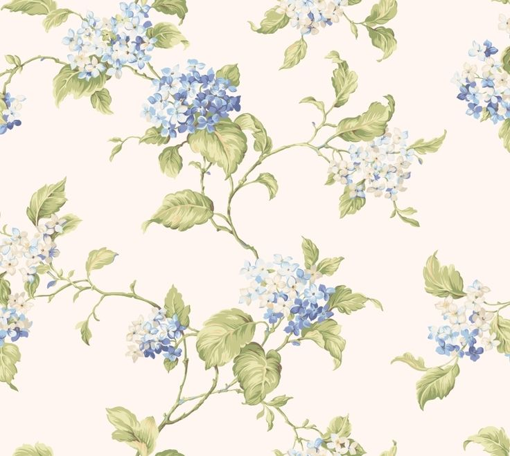York Wallcoverings CT0907 Callaway Cottage Hydrangea