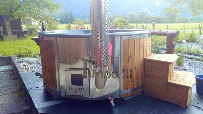 10 best badetonne badefass badezuber hot tubs feedbacks images on pinterest backyard hot tubs. Black Bedroom Furniture Sets. Home Design Ideas