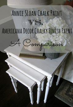 Annie Sloan Chalk Paint Vs. Americana Decor Chalky Finish Paint- A Comparison - From HomeRemediesRx.com