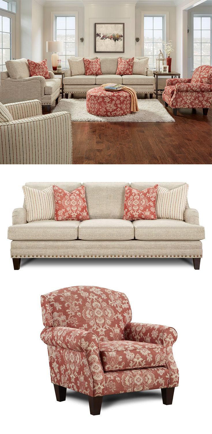 5970 Transitional Sofa With Nail Head Trim By Fusion Furniture | Living  Room Furniture | Pinterest | Sofa, Furniture And Living Room Furniture