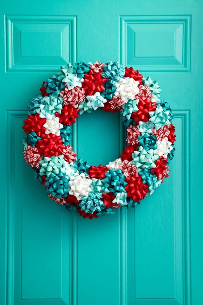 adornos navideños, guirnalda casera, fácil de hacer, colores vivos