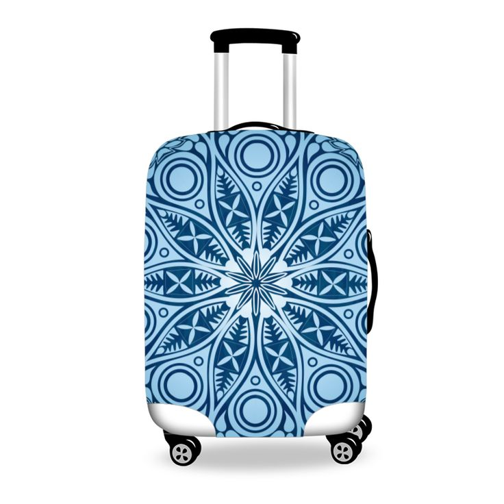 Ornamental Mandala Lace Pattern Luggage Cover