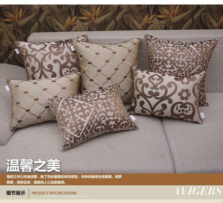 Европейские роскошь подушка королева бежевый подушки, вышитые наволочки, диван-кровать подушку подушки ядро, содержащее большое обычай -tmall.com Lynx