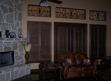 Faux Iron And Plantation Shutters