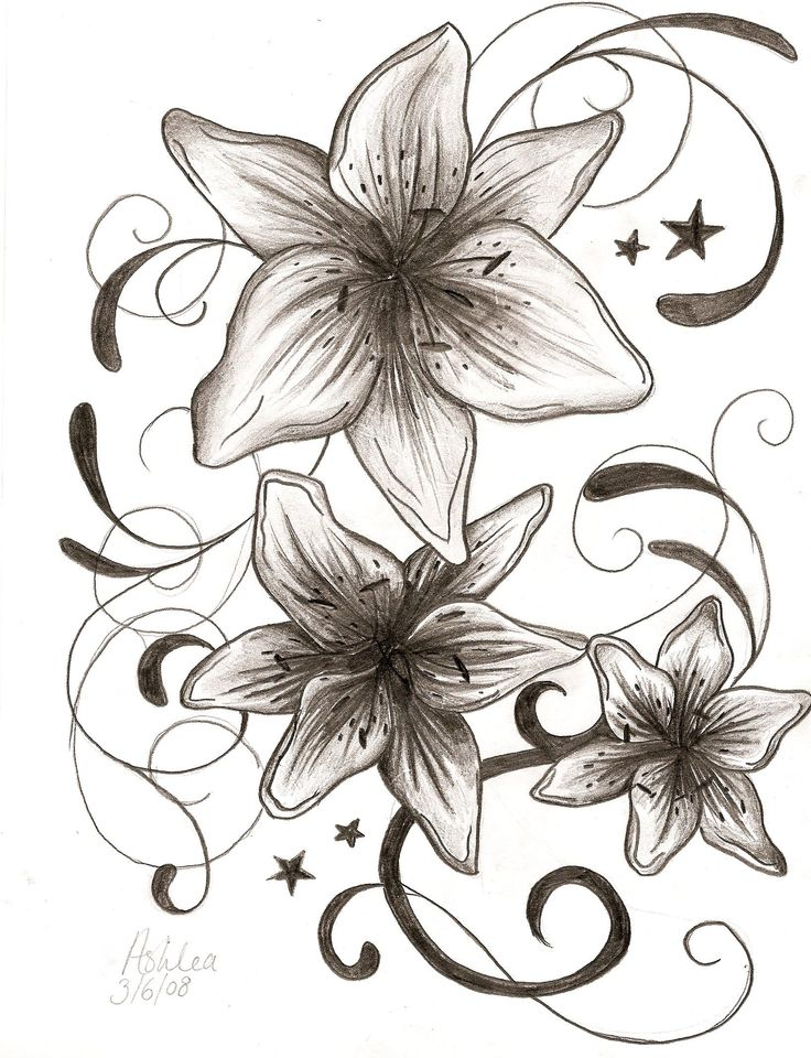 "Beautiful design for my ""family"" flower tattoo"