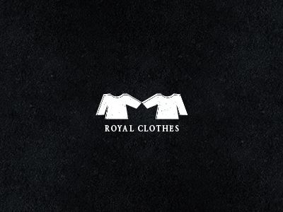 The Royal Clothes #logo #design uses the negative space of two shirts to form a crown - designed by Abdallah Ahizoune